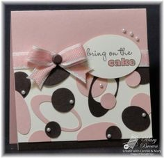 card made with oval & circle punches