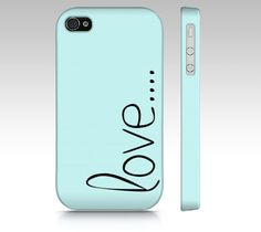 love... iPhone 4/S, iPhone 5, Samsung Galaxy S3 and S4 Phone Case Slim Fit Hard Case More Color Options by From A Daughter Designs! Love is the greatest word of all time. Share it on your phone!