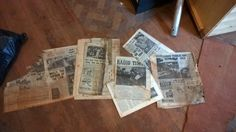 12.)  There are better quirks though. For example, these v cool newspapers from 1949 / 1950.  Quite fancy having these framed somewhere in the hoos.