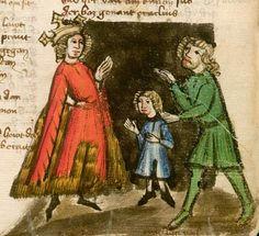 Jansen Enikel, Jans: Weltchronik Bayern-Österreich, 1. Hälfte 15. Jh. Cgm 250 Folio 385