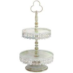 Woodland Imports Victorian 2 Tier Treat Tiered Stand