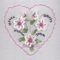 Brazilian Embroidery Pattern Books   ... Flowers Brazilian Embroidery Design- JDR 6135 Linda's Gardenia Pattern