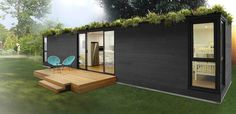42 Ideas container house design cheap flat for Quick Shack - Plug-in to existing site services. Prefab Container Homes, Building A Container Home, Container Buildings, Container Architecture, Container House Plans, Container House Design, Shipping Container Homes, Prefab Homes, Container Houses