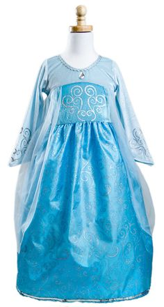 PREORDER!!! Elsa Inspired Frozen Snow Queen Dress - the softest, non-itchy machine washable dress up costume for every day dress up! Your little princess will live in this costume - we guarantee it! #Frozen #Elsa #Snowqueen #princess #dressup #costume #party #frozenparty