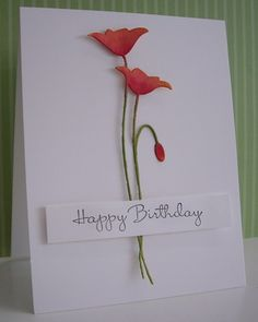 Poppies for Dee Dee by Loll Thompson - Cards and Paper Crafts at Splitcoaststampers