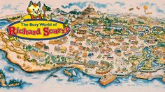 richard scarry busy town map - Google Search