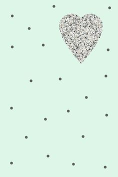 Wallpaper iPhone - HEART GRANITE mint