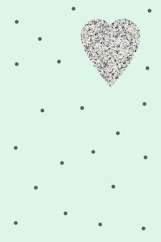 Wallpaper iPhone - HEART GRANITE mint