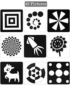 Black White Flash Cards for Infants, 48 Pictures x Inch Designed Contrast Cards for Newborn Baby Toys with High Contrast - 6 Months) Baby Learning Activities, Learning Toys For Toddlers, Infant Activities, Baby Flash Cards, Baby Cards, Baby Play, Baby Boys, High Contrast Images, Newborn Schedule