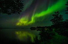 On The Wings Of An Angel ~  Northern Lights over Kabetogama