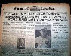 "Terrific ""Black Sox"" World Series scandal issue... SPRINGFIELD DAILY REPUBLICAN, Massachusetts, September 29, 1920 newspaper..."