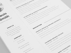 Free minimal and clean resume template to get your dream job!Please appreciate if you download it. Thanks!