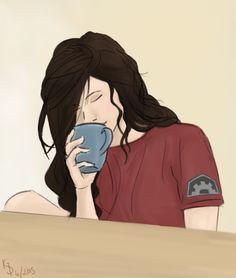 Morning Asami by Gwenola295