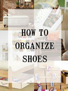 Creative shoe storage options @Remodelaholic.com #spon #shoes #organization #creative