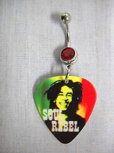 *Bob Marley* Crazy guitar pick on belly button ring. More fantastic pictures and videos of *Bob Marley* on: https://de.pinterest.com/ReggaeHeart/