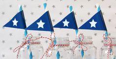 Nautical - Straw Flags - Birthday Boy - Printable - psDre Party Printables. €2,50, via Etsy.