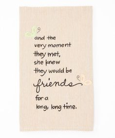 Take a look at this 'Friends' Towel by My Soul's Window on #zulily today!