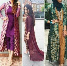 Designer Party Wear Dresses, Kurti Designs Party Wear, Indian Designer Outfits, Shrug For Dresses, Lovely Dresses, Stylish Dresses, Pakistani Dress Design, Pakistani Outfits, Indian Outfits