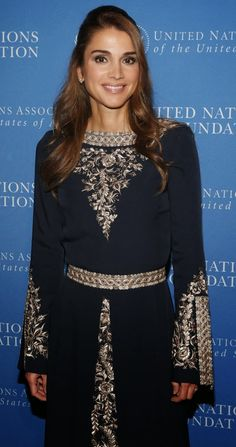 07 November 2013 Queen Rania attended the United Nations Foundation Global Leadership Dinner in New York.