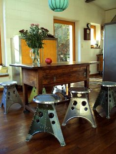Cool Furniture Pieces Made From Old Airplane Parts Crew Daily-Aircraft Salvage Furniture Aviation Furniture, Aviation Decor, Airplane Decor, Automotive Furniture, Salvaged Furniture, Refurbished Furniture, Industrial Furniture, Industrial Style, Furniture Making