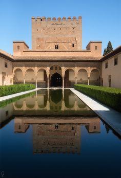 Alhambra,, Patio de los Arrayanes