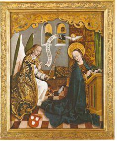 Ik werd getroffen door een schildering van de Annunciatie, de aankondiging, of wel Maria Boodschap, maker en herkomst onbekend. Ze stamt uit de 15de eeuw eind en hangt vanaf begin 19de eeuw in de Sint Bernarduskerk in Breslau. Katholieken vieren deze gebeurtenis van de aankondiging op 25 maart. Jawel, heel precies negen maanden voor Eerste Kerstdag, de geboortedag van Jezus Christus
