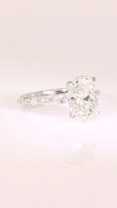 Cute Engagement Rings, Celebrity Engagement Rings, Engagement Ring Buying Guide, Diamond Engagement Rings, Diamond Rings, White Diamond Ring, Oval Diamond, Wedding Rings, Wedding Stuff
