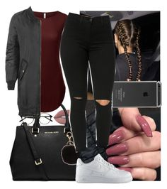 """"""""""" by msixo ❤ liked on Polyvore featuring Lime Crime, MICHAEL Michael Kors, Armitage Avenue, WearAll and NIKE"""