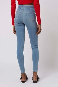 """""""A skinny jean or high-rise legging is a versatile closet staple that transitions easily throughout different seasons,"""" Dahan adds. #refinery29 http://www.refinery29.com/best-jeans-for-your-butt#slide-15"""