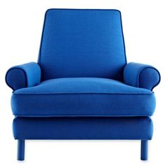 Dress up your living room in a bold new color with a Design by Conran colbalt blue chair with a classic but modern silhouette, from JcPenney