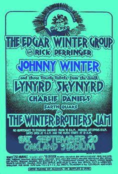 20,9,1975; the edgar winter group - johnny winter - lynyrd skynyrd; usa, oakland, coliseum; (db)
