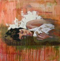 "Saatchi Art Artist: Pascale Taurua; Oil 2015 Painting ""Sleeping"""