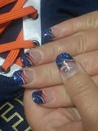 Denver broncos nail art google search nail art pinterest broncos nails for the bowl next weekend prinsesfo Image collections