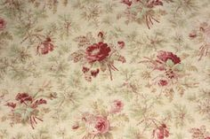 Antique-French-faded-floral-fabric-c1900