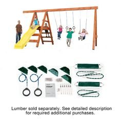Swing-n-Slide Ready to Build Custom Pioneer DIY Swing Set Hardware Kit - Project 150 NE 4433,    #Swing-n-Slide_NE_4433
