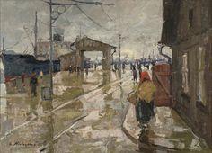 PILSĒTAS AINAVA Eduards Kalniņš. Daugavmala Rīgā (1930)