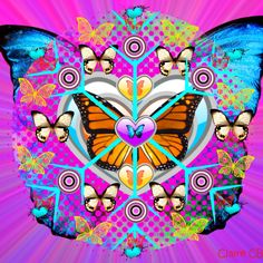 Love of Butterflies Mandala ~ Claire CB