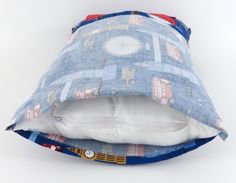 When I make envelope-style pillow covers, I want to try doing it this way -- with much more overlap.