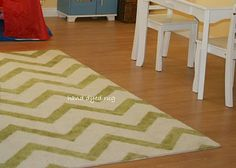 Hand dyed chevron rug!