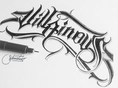 Villainous by suqer on deviantART Tattoo Lettering Design, Typography Drawing, Graffiti Lettering Fonts, Tattoo Script, Cool Lettering, Typography Fonts, Typography Design, Hand Lettering, Letras Tattoo