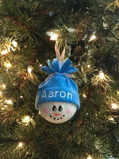 Personalized Snowman Holiday Ornaments Hand-painted | Etsy Handpainted Christmas Ornaments, Baby Ornaments, Christmas Ornament Crafts, Hand Painted Ornaments, Handmade Christmas Gifts, Holiday Ornaments, Christmas Bulbs, Snowman Ornaments, Snowmen