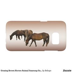 Grazing Brown Horses Animal Samsung Galaxy S7 Case