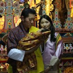 Simply Bhutan on Twitter:  April 16, 2016-King Jigme Khesar Nagyei Wangchuck and Queen Jetsun Pema of Bhutan with their son The Gyalsey (Crown Prince) Jigme Namgyal Wangchuck, b. February 5, 2016, during his naming ceremony