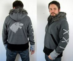The Dire Wolf  Handmade AntiPill Fleece Hoodie by RaritysBoutique