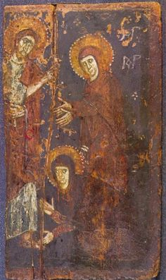Christ's appearance to Mary Magdalene icon, St Catherine's Monastery, 7th century AD. Mount Sinai (Egypt).