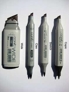 Copic markers for graphics