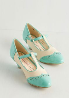 Care to Dance? Heel in Turquoise, #ModCloth