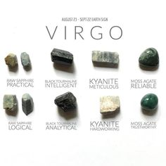 Crystals for Virgo Chakra Crystals, Crystals Minerals, Crystals And Gemstones, Stones And Crystals, Black Crystals, Chakras, Virgo Birthstone, Crystal Healing Stones, Quartz Crystal