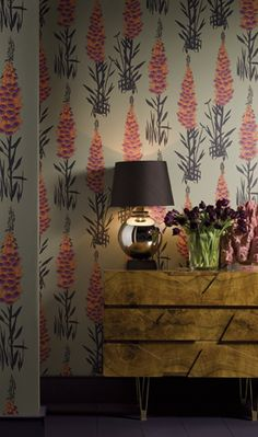 Love this wallpaper! Hothouse By Suzy Hoodless From Osborne and Little #wallpaper