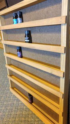 Essential oil shelf essential oil storage